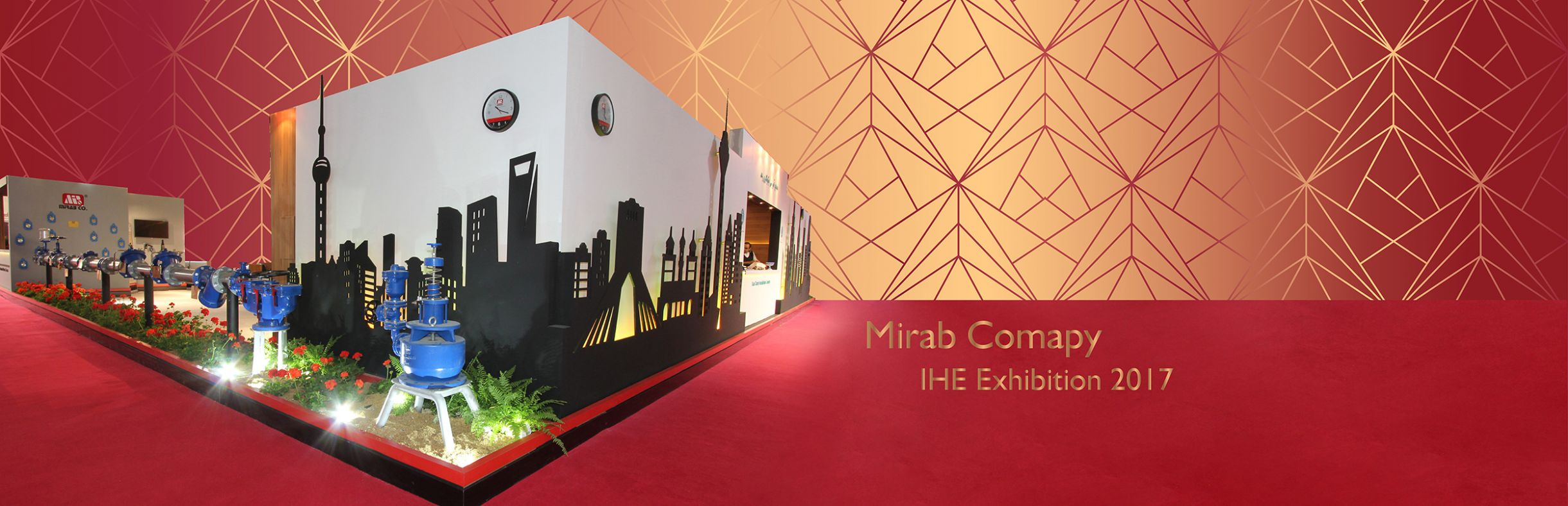 MIRAB | Iran Hvac& R (IHE) | CNC Cut |Tailor Made Stand | Exhibition Stand Contractor in Iran | Sepanj Sazeh