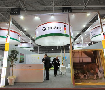 پاویون آلمان, نمایشگاه دام و طیور